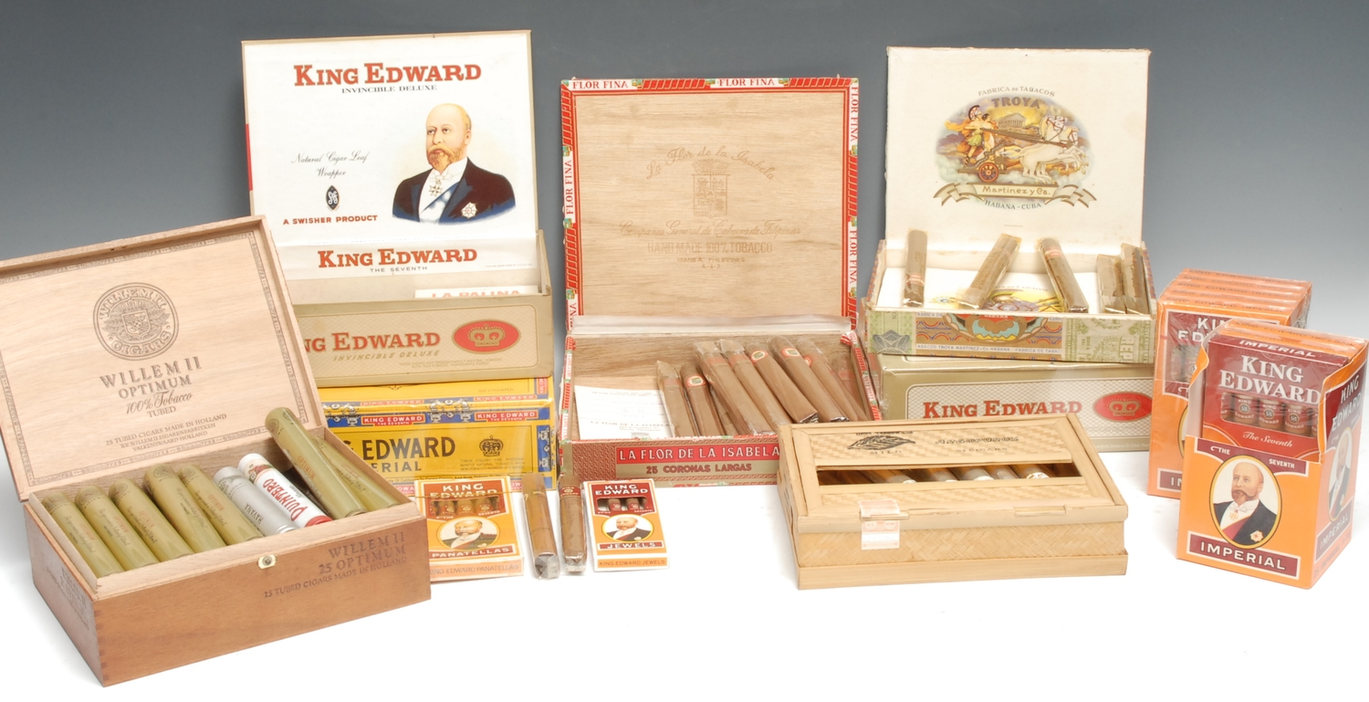 Tobacciana, Cigars - an assortment of 20th century cigars, including Troya by Martinez y Ca of