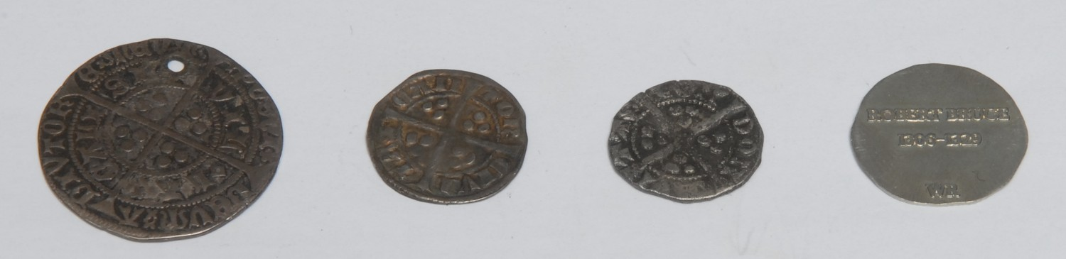 Coins, GB, Medieval, Hammered Silver: Henry VI, 1427-1430, silver groat, Calais mint, (1); two - Image 2 of 2