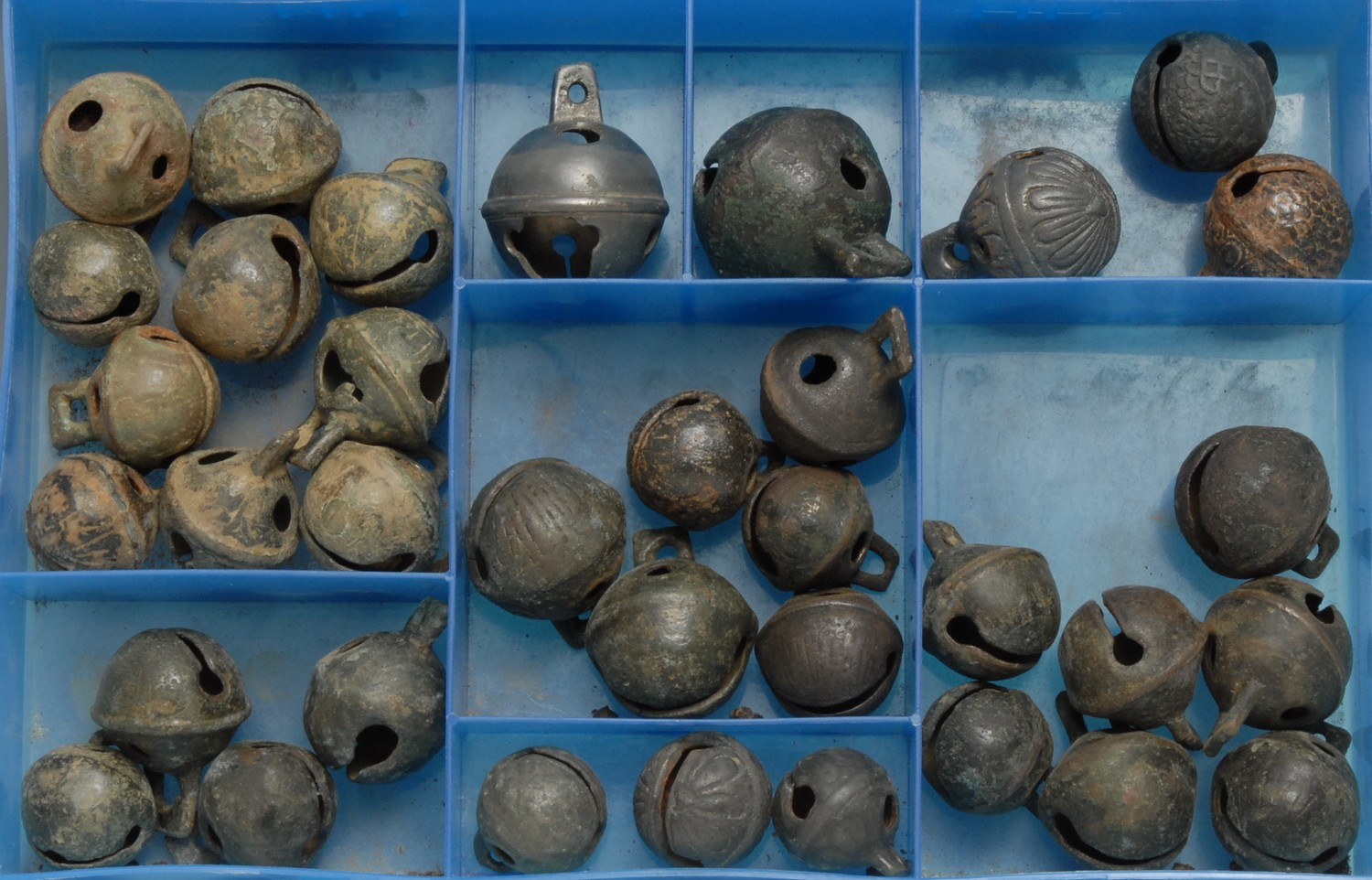 Antiquities - a collection of post-Medieval bronze cow bells, various sizes, (approx. 35)