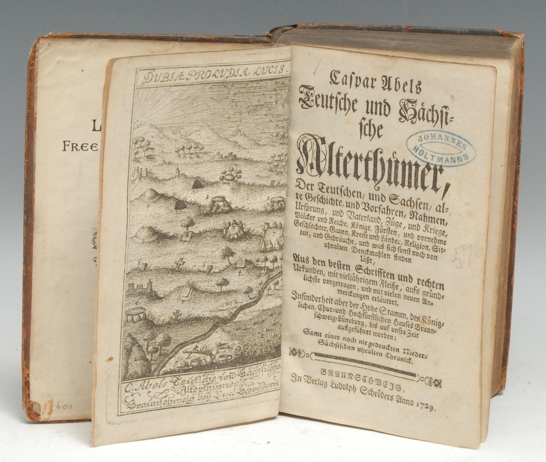 Germany, Saxony, History and Antiquities - Abel (Caspar), Teutsche und Sächsische Alterthümer [...], - Image 2 of 2