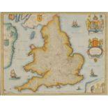 After Henricus Hondius II (1597-1651), America Septenrionalis, hand-coloured 20th century