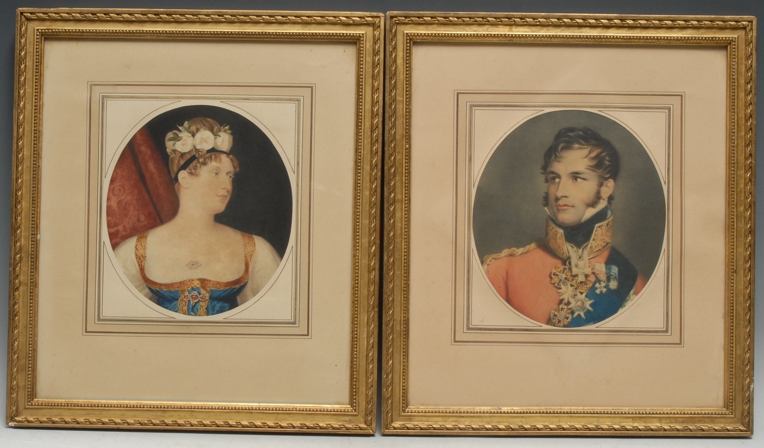European Royalty - After George Dawe RA (1781-1829), a pair of portraits, Prince Leopold of Saxe-