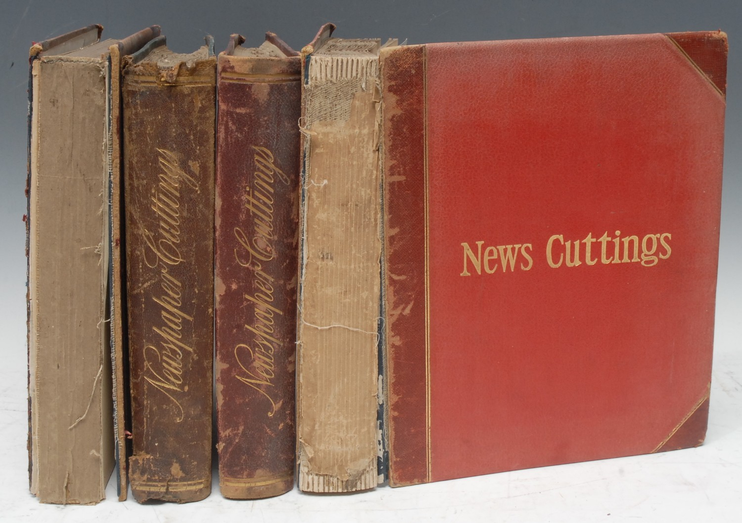 An Edwardian album of newspaper cuttings, compiled by H. Hawkins of Everdon Hall,