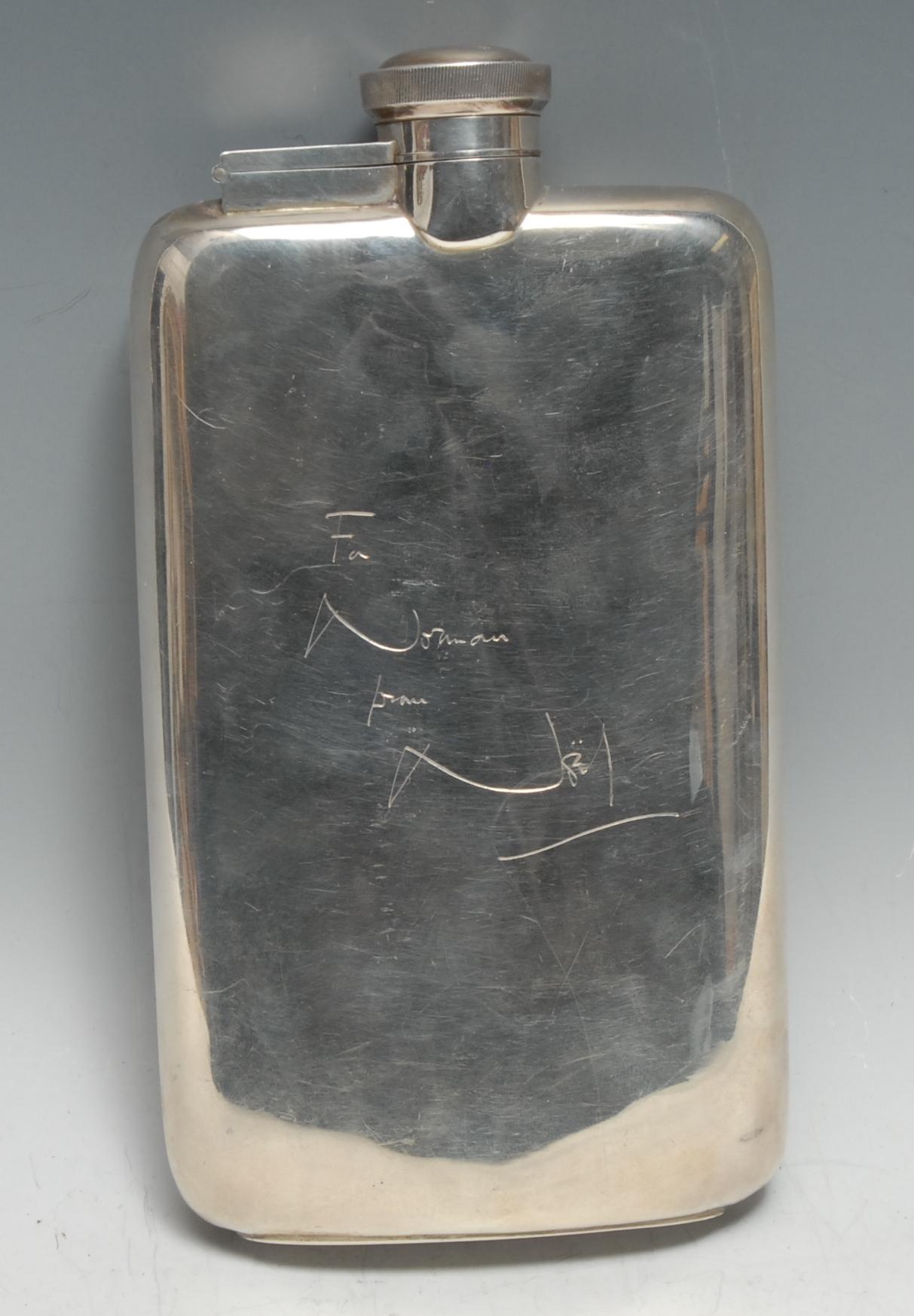 Sir Noël Coward (1899 ? 1973) - a large George VI silver rounded rectangular presentation