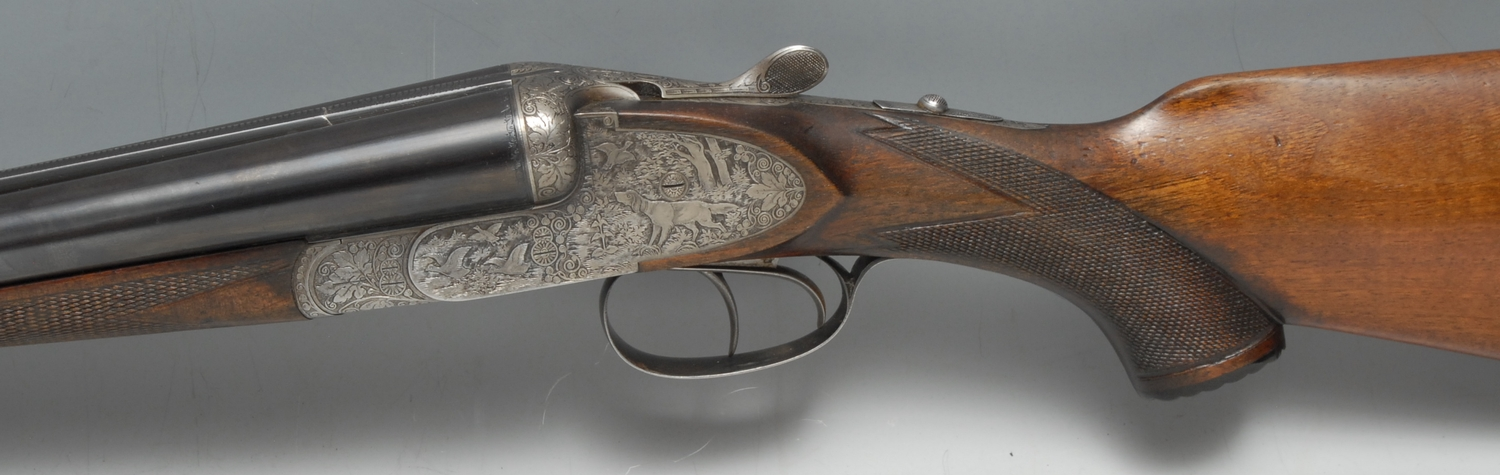 12 Bore Side by Side side lock ejector shotgun serial number 33150. Barrel length 28 inches. - Image 2 of 4