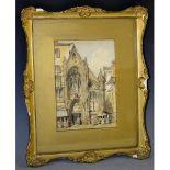 South European Grand Tour School (19th century) A Medieval Gothic Church watercolour on paper,