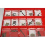 Antiquities - a collection of Roman and Medieval finds, comprising Bronze items, including