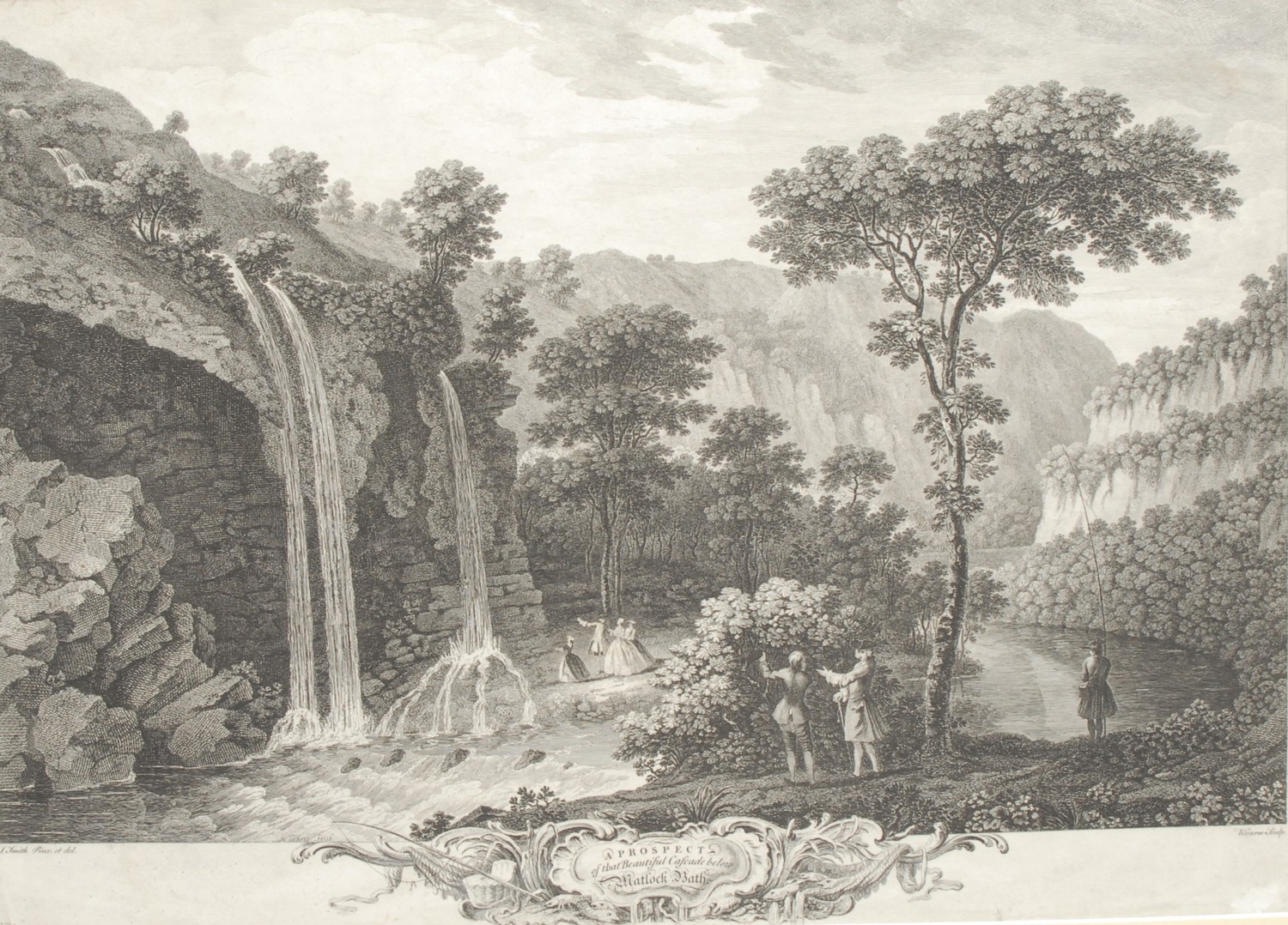 Local Interest - François Vivares (1709-1780), after Thomas Smith of Derby (d. 1767), two - Image 2 of 2