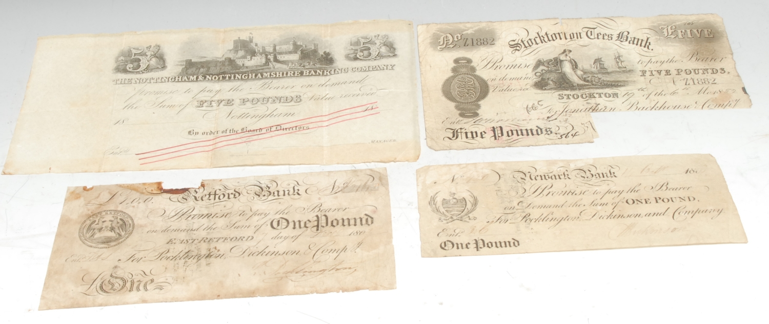Banknotes, GB, Local Provincial Banks: Retford Bank £1, signed and dated in ink MS 7th December