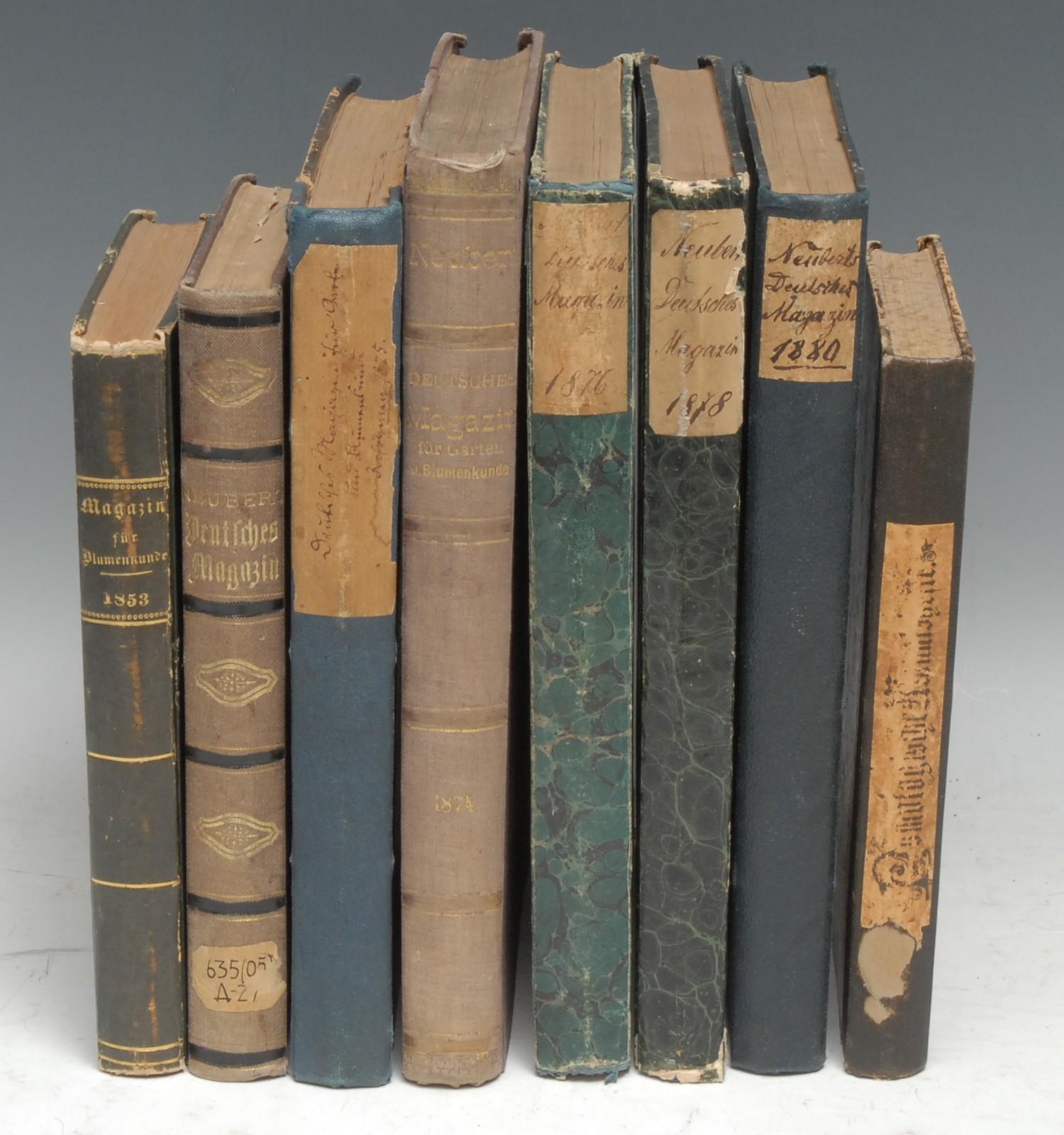 Botany - Neubert (Wilhelm), seven volumes of the Deutsches Magazin: 1853, 1871, 1874, 1875, 1876, - Image 2 of 2