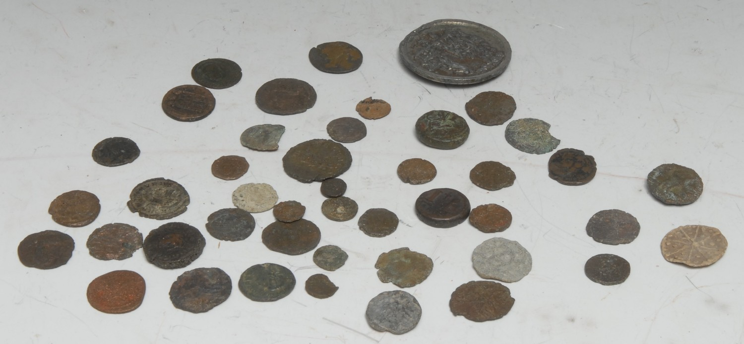 Coins, Ancient and Later, including Roman, Byzantium, etc., all AE of various sizes and grades; a