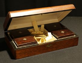 A 19th century rosewood playing card box, c.1870