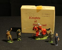 W Britain (Britains) No.9494 Knight of Agincourt, comprising of a single lead knight mounted on a