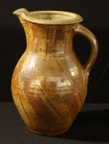 Studio Pottery - Mick Casson, a salt glazed jug, 28.5cm