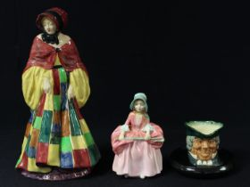 A Royal Doulton figure, The Parsons Daughter, 26cm high, HN564; another, Bo Peep, HN1811; Parson