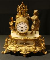 A 19th century French gilt metal mantel clock, c.1870