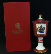 A Spode commemorative chalice and cover, Pope John Paul II British Visit 1982, limited edition,