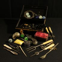 Boxes, Objects and Bijouterie - a stainless steel sailor's clasp knife; another penknife, with