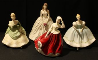 A Royal Worcester figure, A Day to Remember, figure of the year 1998, CW395; a Royal Doulton figure,