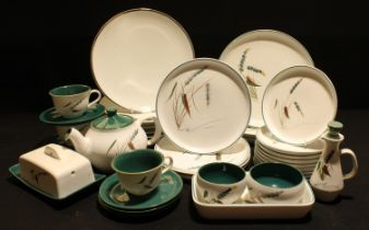 Denby Greenwheat dinner ware - plates, teapot, dishes, etc