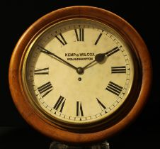 Police Station Wall Clock by by Kemp & Wilcox, Wolverhampton. Circular face with enamel dial with