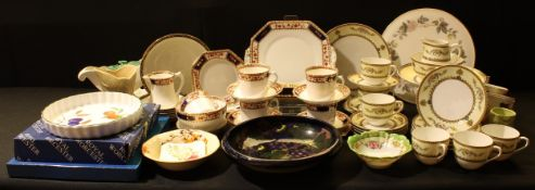 Ceramics - a Noritake tea service for six; another part service, Royal Stafford; a Royal Worcester