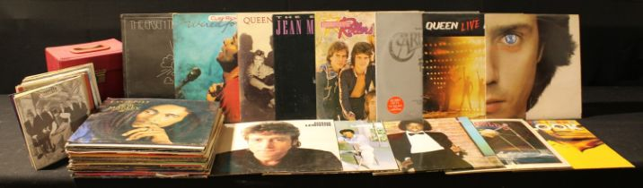 Vinyl Records - 45s and LPs - pop and rock including Queen, The Works; Live Killers; Michael