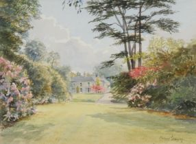 Michael Crawley Country House signed, watercolour, 29cm x 39cm