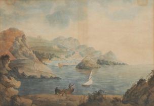English School (19th century), Ilfracombe in 1800, unsigned, watercolour, 29cm x 32cm