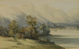 Frank Lee (20th century) A Pair, North Wales signed, watercolours, 8cm x 12.5cm