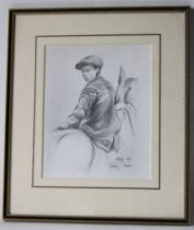 After Lucy Kemp Welch ?Study, Boy Leading Horses? pencil, 26cm x 21cm