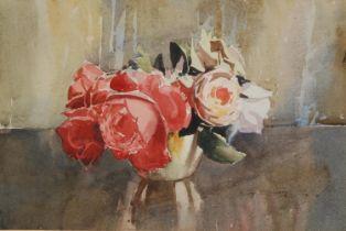 Berry, Roy (British) (XX) Roses signed, watercolour, 22cm x 32cm