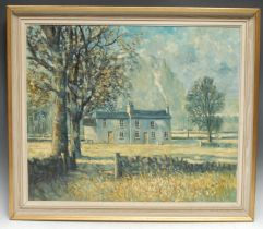 Ivan Taylor (contemporary) White Cottage signed, dated 76, oil on canvas, 50cm x 61cm