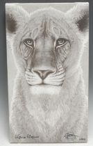 Gary Hodges Wildlife Artist (1954- ), by and after, The Spirit of Elsa, monochrome print on