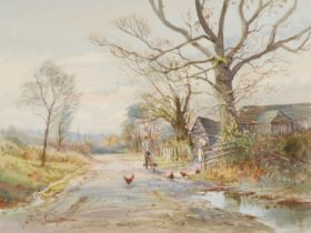 Michael Crawley Near Idridgehay signed, watercolour, 30cm x 40cm
