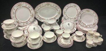 A Coalport Montdore pattern dinner and tea set inc dinner, side plates, tea and coffee cups,