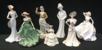 A Coalport figure, Carole; others Tess; Serenity; others Royal Doulton, Spode etc (7)