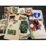 Mike Goldberg, an artist archive folio complete and incomplete works, inspirational images,