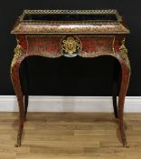 A 19th century gilt metal mounted Boulle bloom trough or jardiniere table, pierced gallery above a