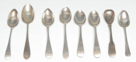 Scottish Provincial Silver - an 18th century silver Hanoverian pattern teaspoon, Nathaniel