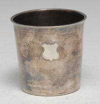 A 19th century Continental silver beaker, possibly Scandinavian, flared rim, 6cm high, unmarked
