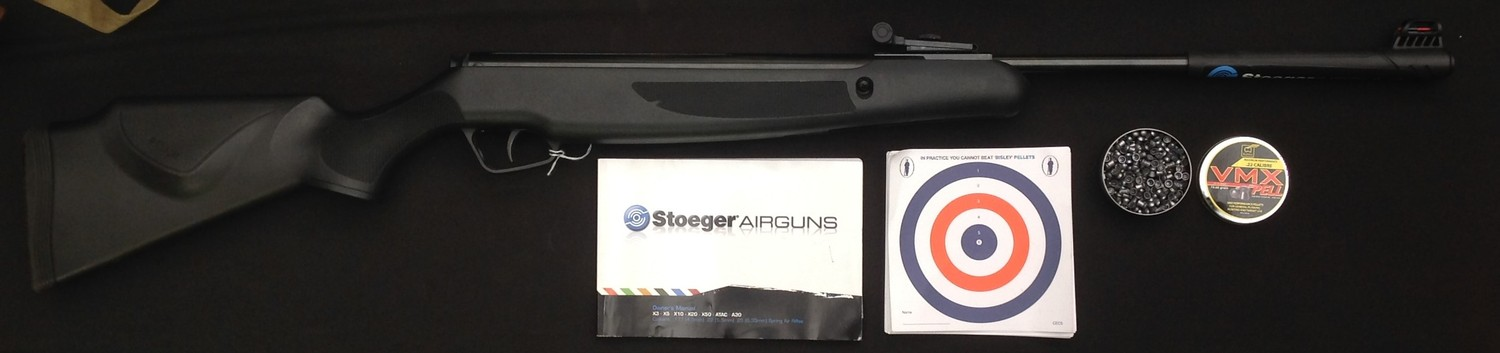 Stoeger Model X20 .22 cal Air Rifle serial no. STG1615597. 425mm long barrel . Black ABS stock and - Image 2 of 13