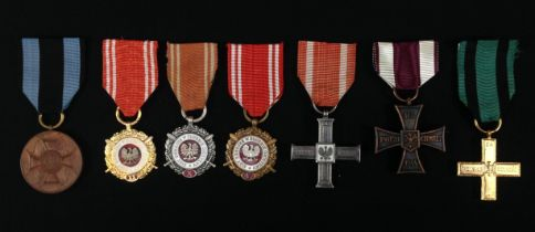 Polish Medal Collection comprising of : Armed Forces of the Fatherland Medal in Bronze, Silver and