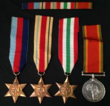WW2 South African Medal Group to 8102 E. Morris consisting of 1939-45 Star, Africa Star, Italy