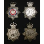 Queen Crown West Yorkshire Police enamelled helmet plate: Queens Crown West Yorkshire Constabulary x
