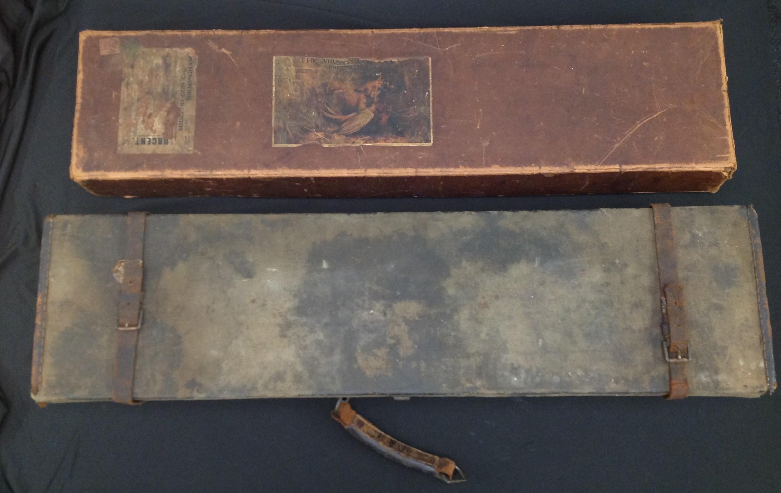 A pair of Shotgun Boxes: an original cardboard box of issue by the Midland Gun Company, Birmingham