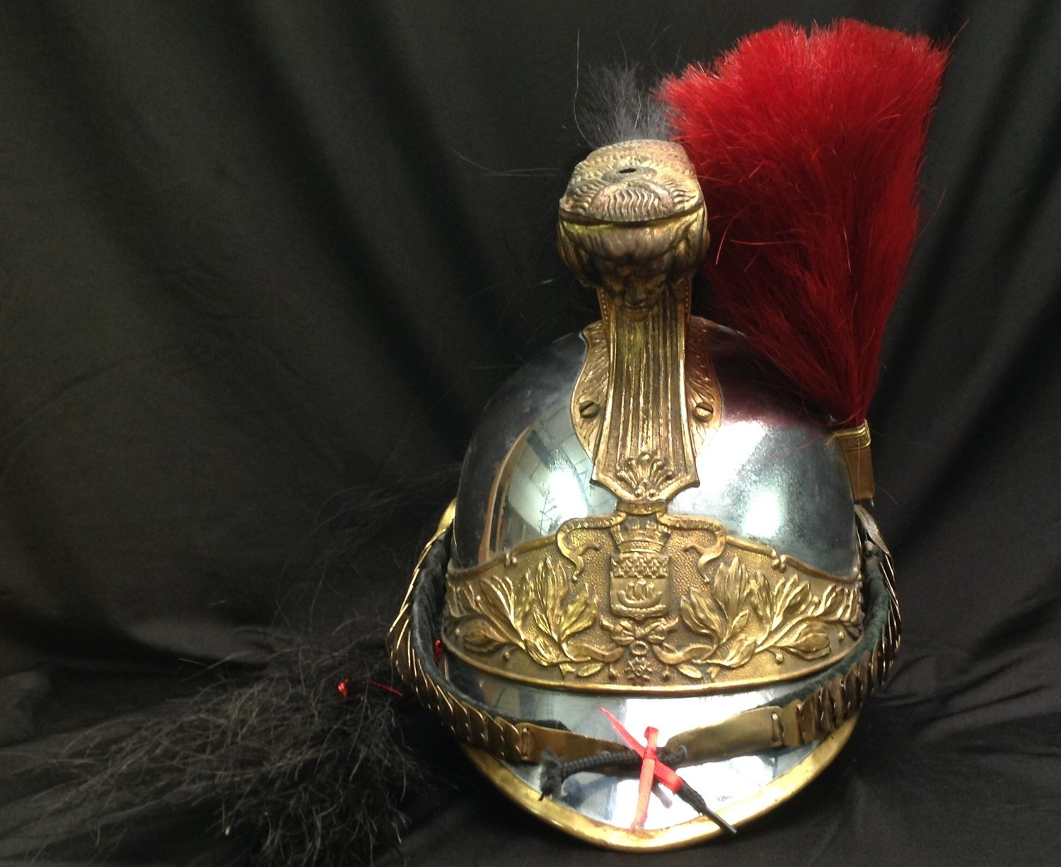 """French Republican Guard of the City of Paris Cuirassier helmet. Maker marked to rear of helmet """""""