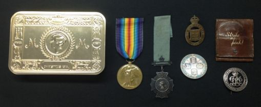 WW1 British Victory Medal to 105528 2 Clp GH Marshall, RE. Complete with replacement ribbon along