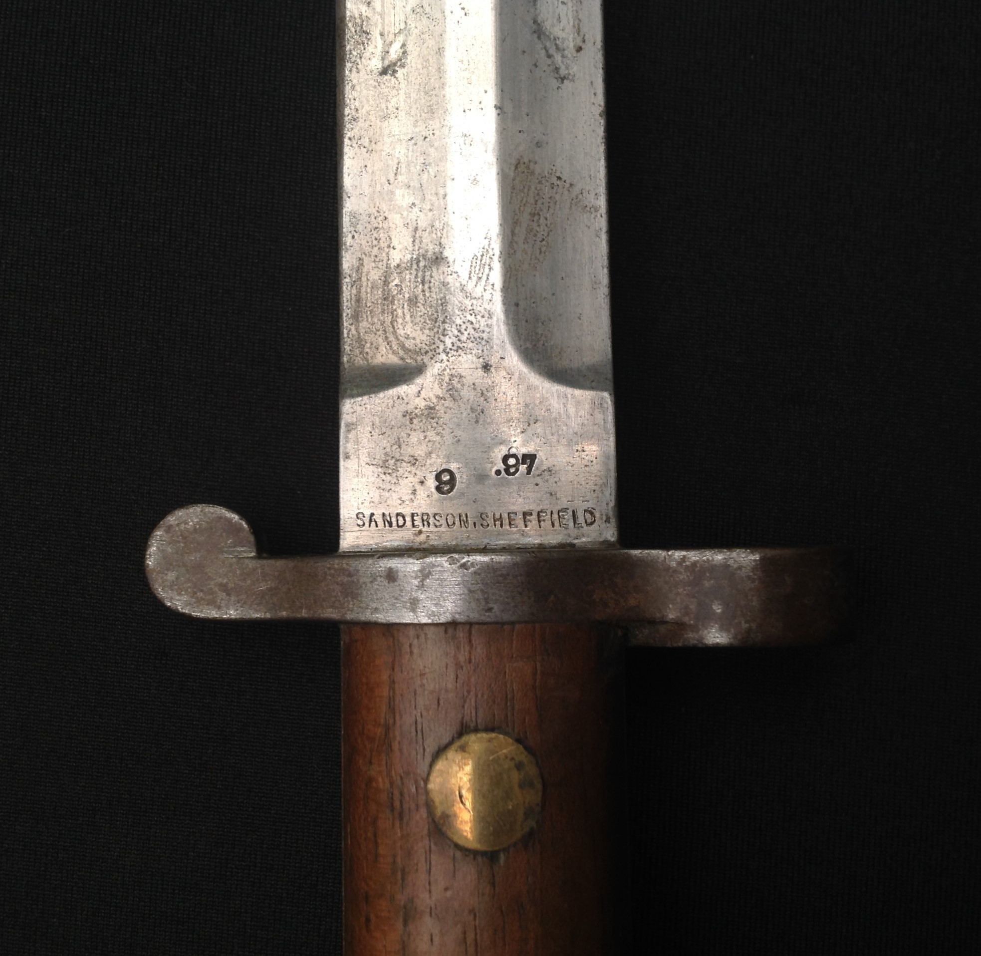 British 1888 pattern bayonet for Long Lee Enfield and Long Lee Metford rifles, 30cm blade by - Image 7 of 11