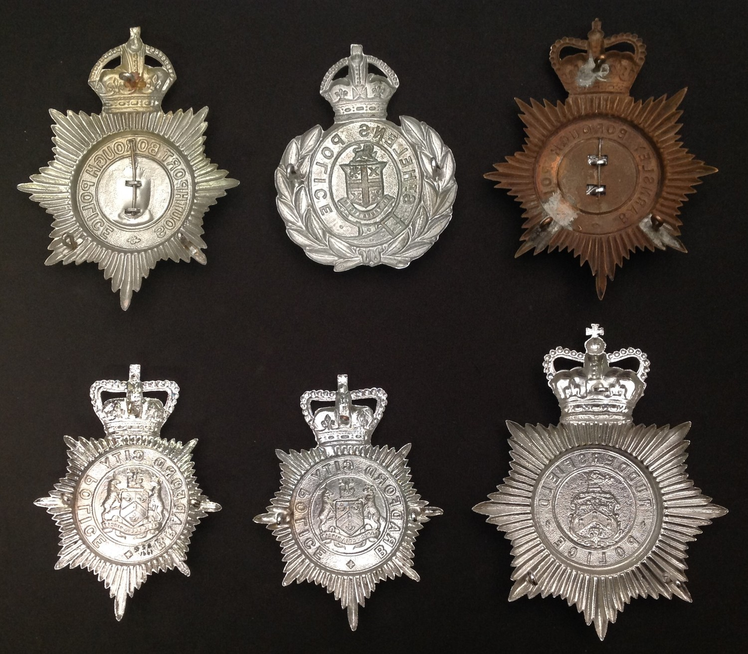 Kings Crown Southport Borough Police: Kings Crown St. Hellens Police: Queens Crown Barnsley - Image 2 of 2
